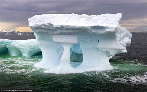 Cold cuts: Giant icebergs form spectacular sculptures as