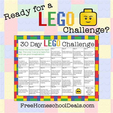 Free Printable 30-Day LEGO Challenge (instant download