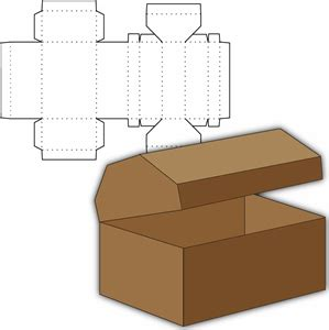 Silhouette: treasure chest box - for party favors