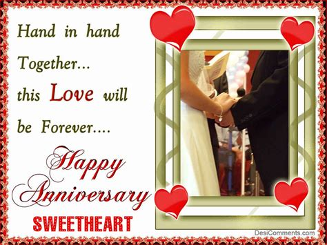 Happy Anniversary Sweetheart - DesiComments