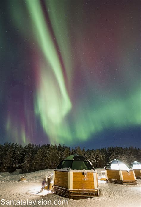 Arctic Glass Igloos under the Northern Lights in Rovaniemi