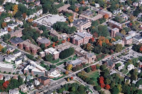 Aerial View of the Clark University Campus | Worcester has
