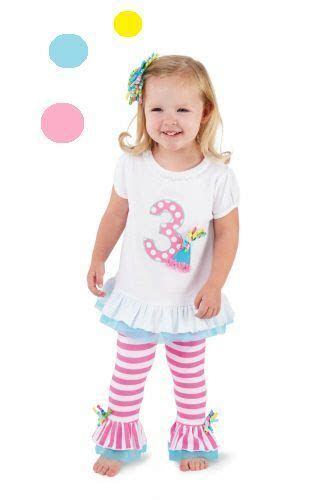 NWT MUD PIE Baby Girl 1st, 2nd or 3rd Birthday Outfit with