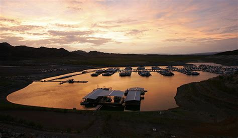 Lake Mead before and after: Colorado River basin losing