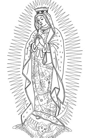 Our Lady of Guadalupe coloring page   SuperColoring