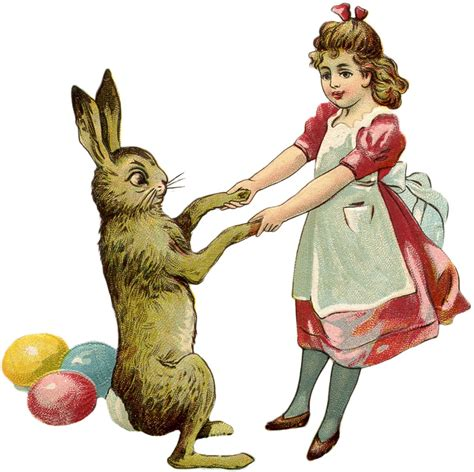 Free Vintage Easter Bunny Images - The Graphics Fairy