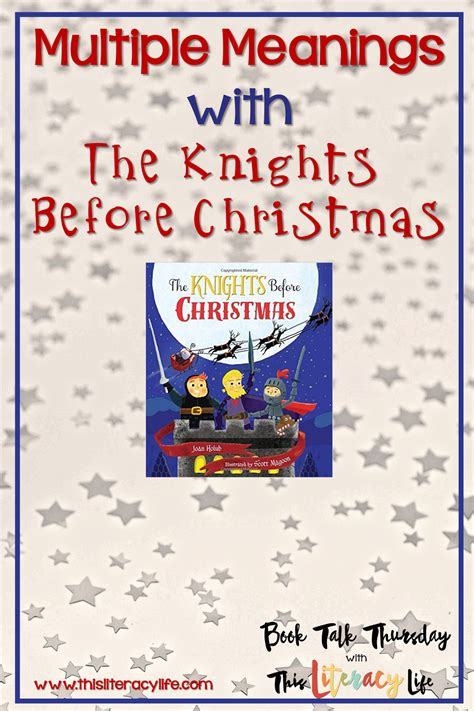 The Knights Before Christmas Come to Book Talk Thursday