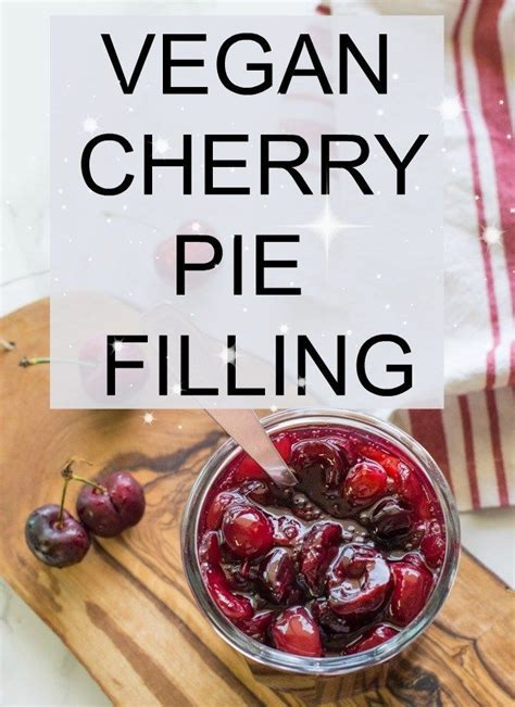 This recipe on homemade vegan cherry pie filling made with