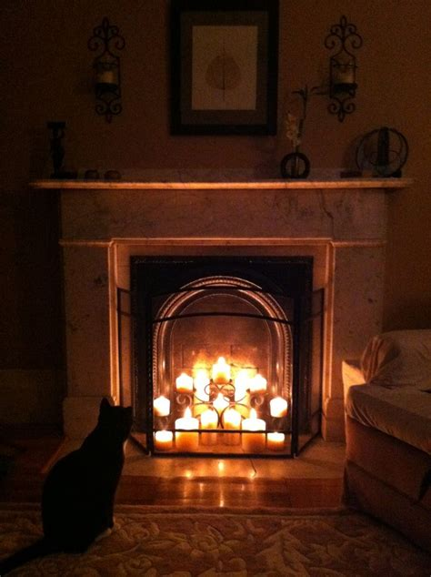 Non-working fireplace ideas   Our Home   Pinterest   Cats