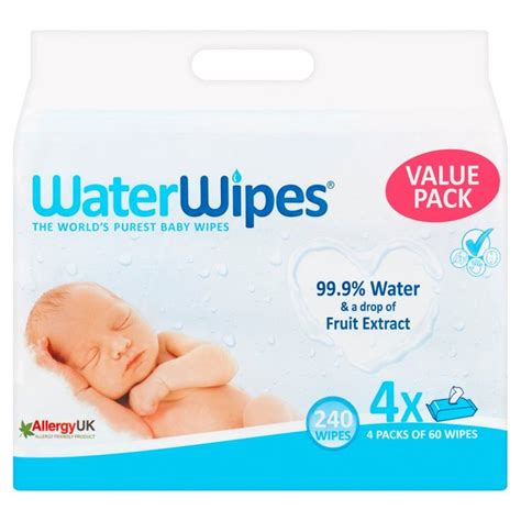 Morrisons: Waterwipes Baby Wipes Quad 240 per pack(Product