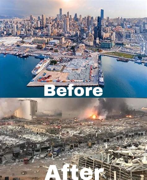 Beirut before and after explosion   Beirut, Beirut