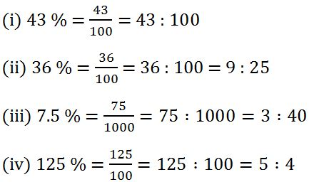 RS Aggarwal Class 7 Math Tenth Chapter Percentage Exercise