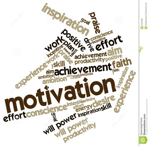 Word Cloud For Motivation Stock Photo - Image: 27079180