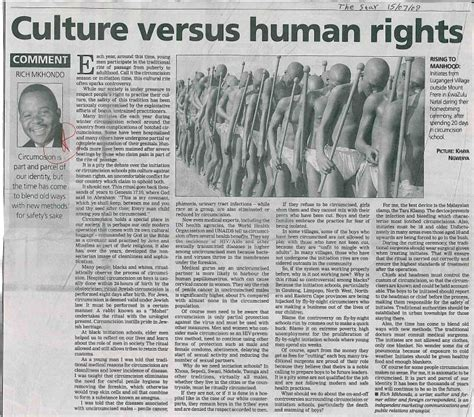 Culture versus human rights - The Star - Gender Links
